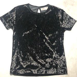 Soft velvet black shirt